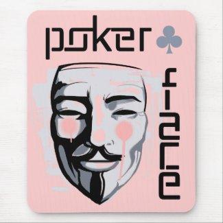 Alfombrilla de raton Poker Face Rosa (V)