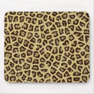 Mousepads con una textura de la piel del leopardo