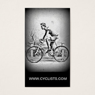 Moviendo encendido l ciclo monocromático del tarjeta de visita