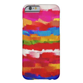 Movimiento colorido #2 del cepillo de la funda barely there iPhone 6