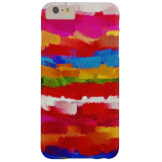 Movimiento colorido #2 del cepillo de la funda barely there iPhone 6 plus