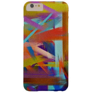 Movimiento colorido #3 del cepillo de la funda barely there iPhone 6 plus