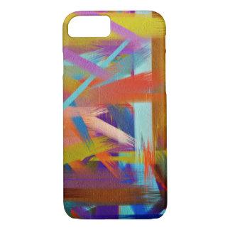 Movimiento colorido #3 del cepillo de la funda iPhone 7
