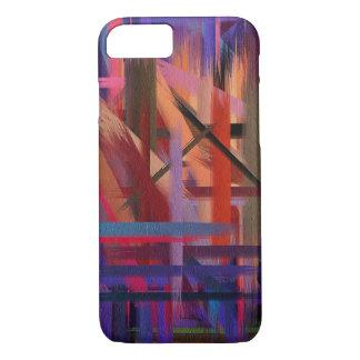Movimiento colorido #9 del cepillo de la funda iPhone 7