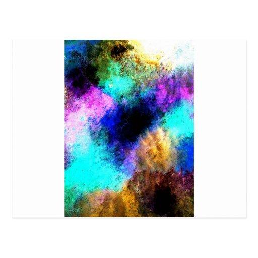 Movimientos abstractos tarjetas postales