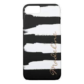 Movimientos blancos personalizados del cepillo de funda iPhone 7