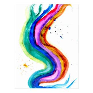 Movimientos coloridos 3 de la pintura postal