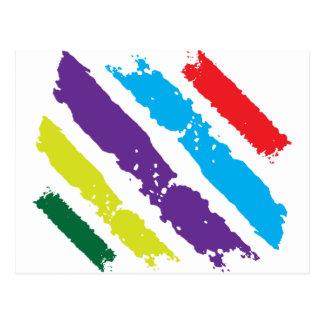 Movimientos del cepillo tarjetas postales