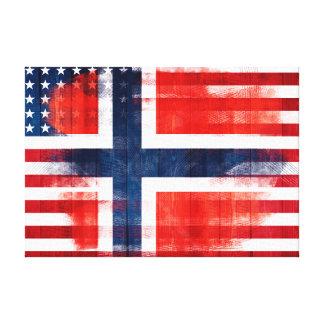 | movimientos noruegos de madera y de la pintura lienzo