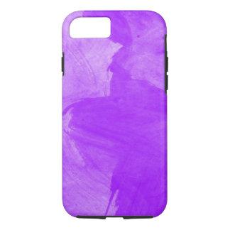 Movimientos púrpuras del cepillo de la acuarela funda iPhone 7