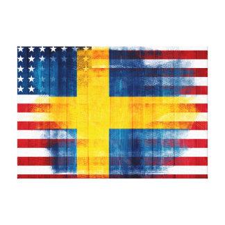 Movimientos suecos del grano de madera americano y lienzo