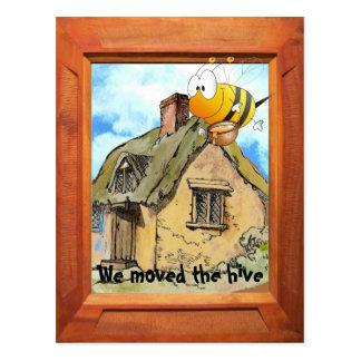 Movimos la colmena de la abeja postal