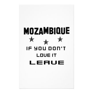 Mozambique si usted no lo ama, se va papeleria
