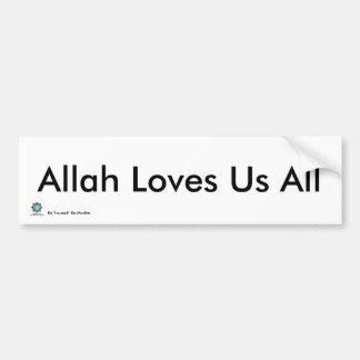 MPV-Alá nos ama todos - pegatina para el