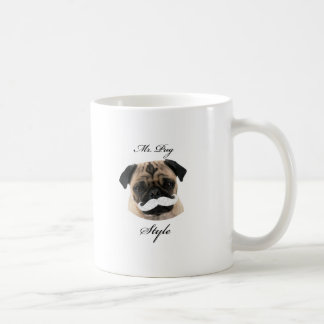Mr. Pug Collection Taza Clásica