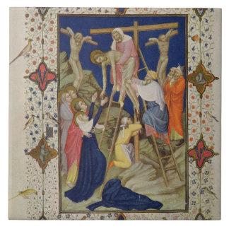 Ms 11060-11061 horas de la cruz: Vespers, el De Azulejo