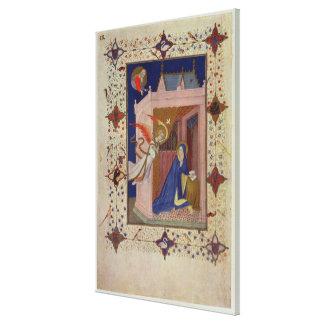 Ms 11060-11061 horas de Notre Dame: Matins, Impresión De Lienzo