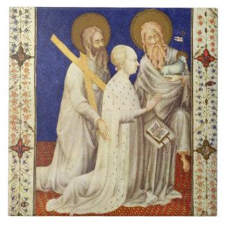 Ms 11060-11061 Juan, Duc de Berry en su apuesta de Teja Cerámica