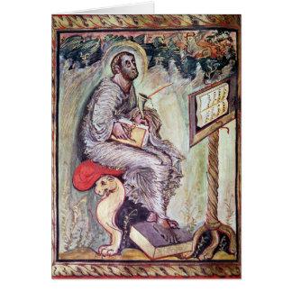 Ms 1 fol.90v St Luke, de los evangelios de Ebbo Tarjeta De Felicitación