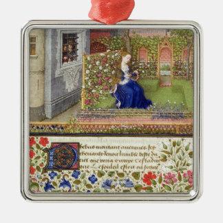 Ms 2617 Emilia en su jardín, placa 22, del 'La T Ornamento De Navidad