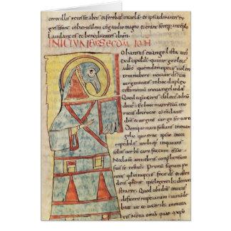 Ms 8 f.95v St. John el evangelista Tarjeta