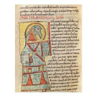 Ms 8 f.95v St. John el evangelista Postal