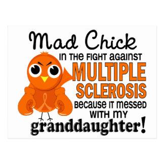 Ms enojado de la esclerosis múltiple de la nieta postal