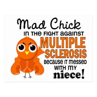 Ms enojado de la esclerosis múltiple de la sobrina postal