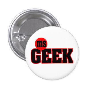 Ms Geek Button Pins