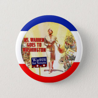Ms Warren Goes To Washington Chapa Redonda De 5 Cm