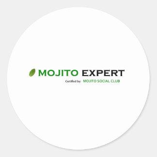 MSCMojitoExpertCertified10x10 Pegatina Redonda