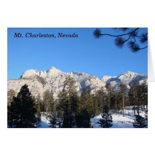 Mt Charleston Notecard Tarjeta
