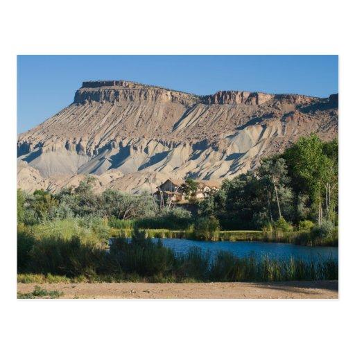 Mt. Garfield en la palizada, Colorado Postal