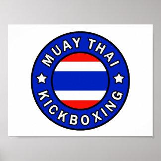 Muay Kickboxing tailandés Póster