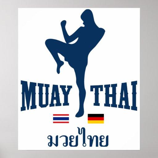 Muay Tailandia tailandesa Alemania Poster