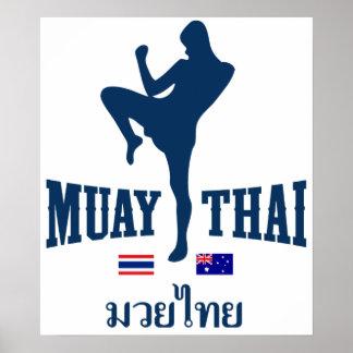 Muay Tailandia tailandesa Australia Póster