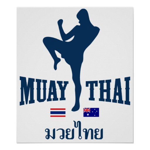 Muay Tailandia tailandesa Australia Poster