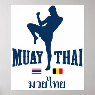 Muay Tailandia tailandesa Bélgica Póster