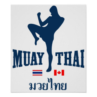 Muay Tailandia tailandesa Canadá Póster