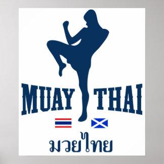 Muay Tailandia tailandesa Escocia Poster