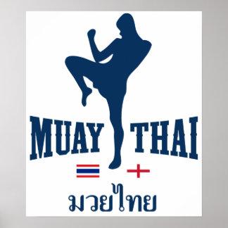 Muay Tailandia tailandesa Inglaterra Póster