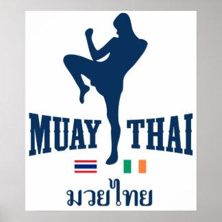 Muay Tailandia tailandesa Irlanda Póster