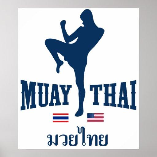 Muay Tailandia tailandesa los E.E.U.U. Posters