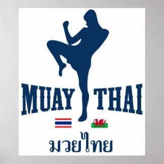 Muay Tailandia tailandesa País de Gales Poster