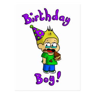 Muchacho 1 del cumpleaños postal