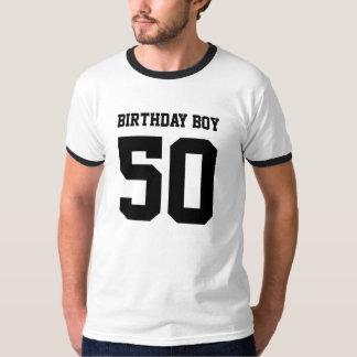 Muchacho 50 del cumpleaños camisetas