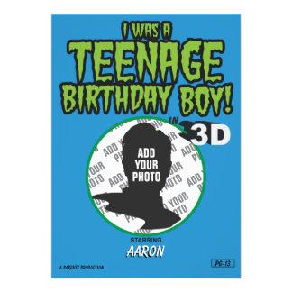 Muchacho adolescente del cumpleaños