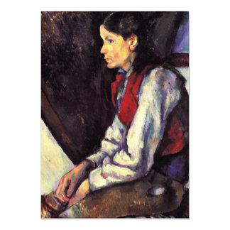Muchacho con arte rojo de la pintura de Paul Invitación 12,7 X 17,8 Cm