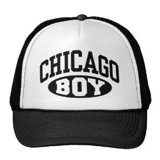 Muchacho de Chicago Gorras
