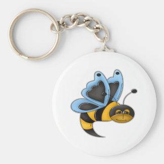 Muchacho de la abeja de la mantequilla llaveros